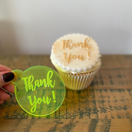 'Thank You' Fondant Embosser Stamp