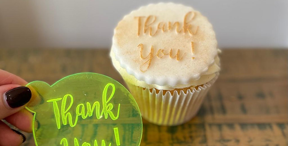 'Thank You' Fondant Embosser Stamp