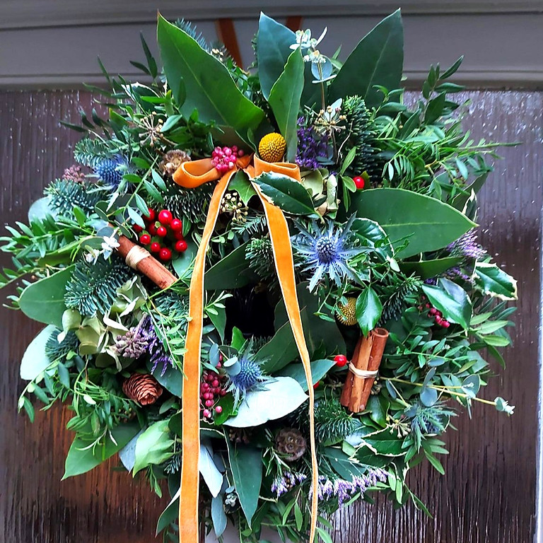 Fresh Christmas Wreath Making Workshop with Mindenwood Floral Design