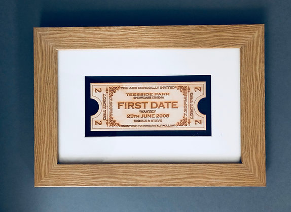Milestones of life keepsake box frame
