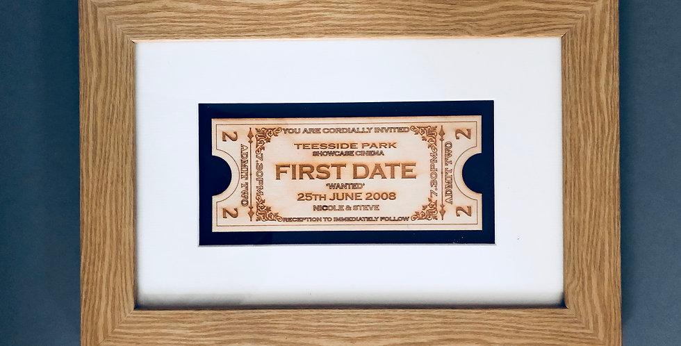 Milestones of life keepsake box frame