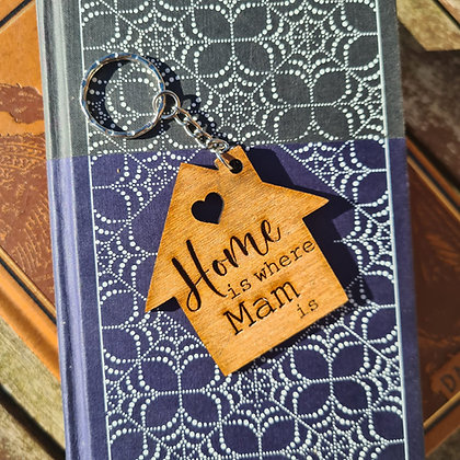 'Home is Where...' Keyring