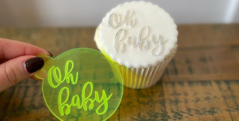 'Oh Baby' Fondant Embosser Stamp