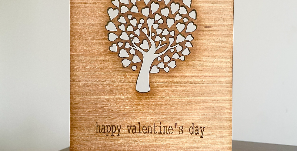 Tree of Hearts Greetings Card
