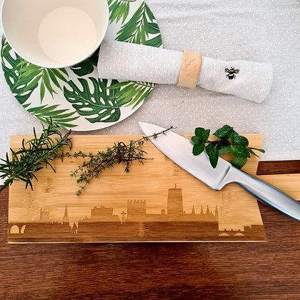 Durham Skyline Bamboo Serving Platter