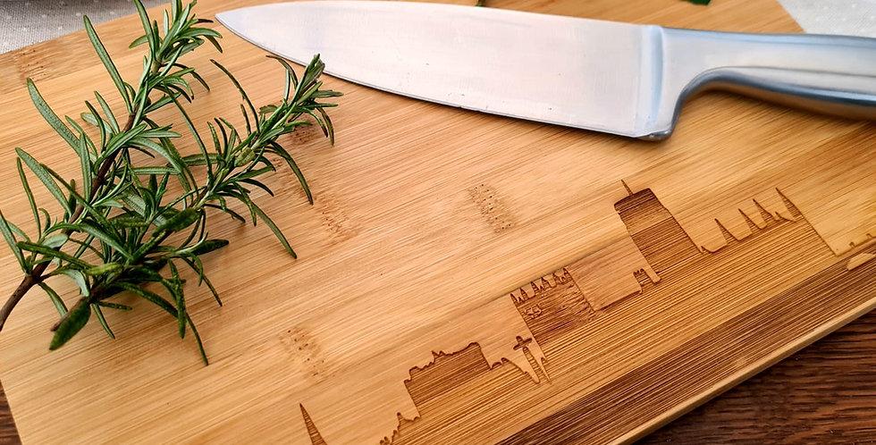 Durham Skyline Bamboo Chopping Board