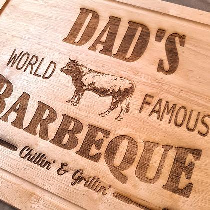 'Dad's BBQ' Chopping Board