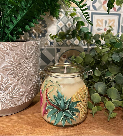 'Botanicals'- hand-painted candle