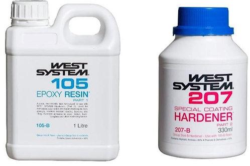 West System - RHB207 - Resin + Hardener - Special Coating (Size: Set B)