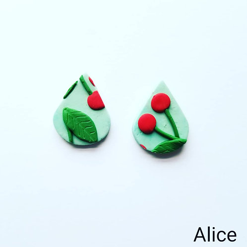 Cherry Slab Earrings- Alice