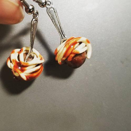 Spaghetti & Meatball Earrings