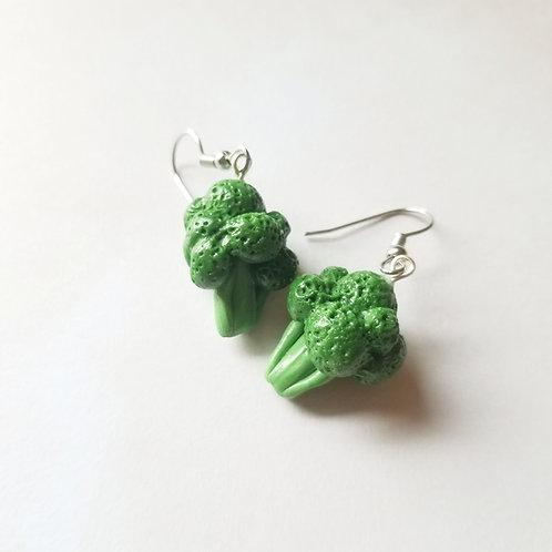 Eat Your Veggies! Broccoli Earrings