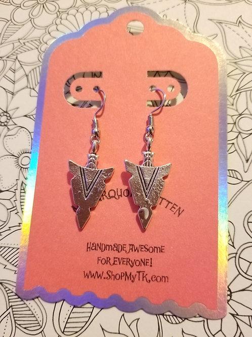 Triangle Arrowhead Earrings