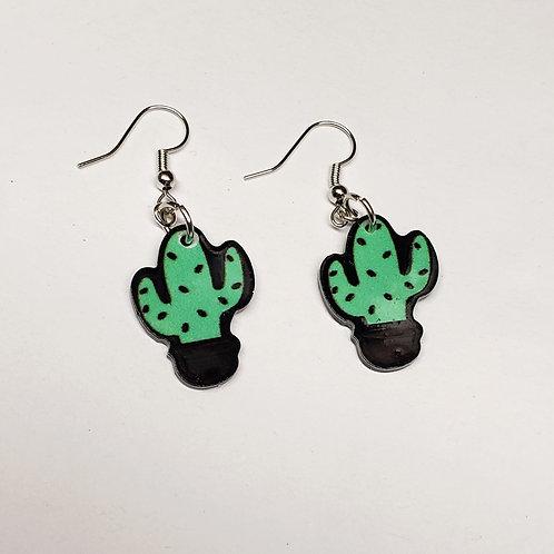 Acrylic Cactus Earrings