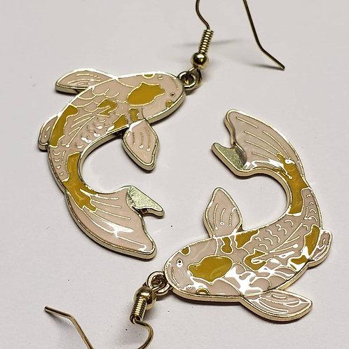 Koi Fish Earrings - Yellow