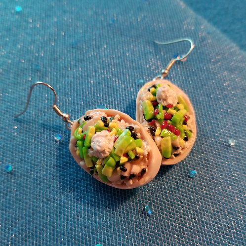 Burrito Bowl Earrings