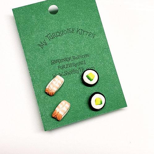 Sushi 2-Pack Stud Earrings