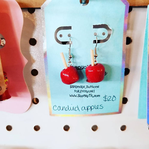 Red Candied Apple Earrings