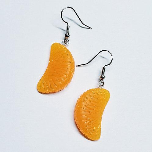 Mandarin Orange Slice Earrings