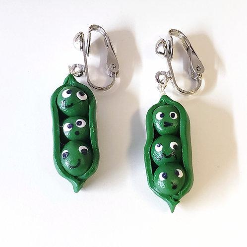 Hap-Peas Clip-on Earrings