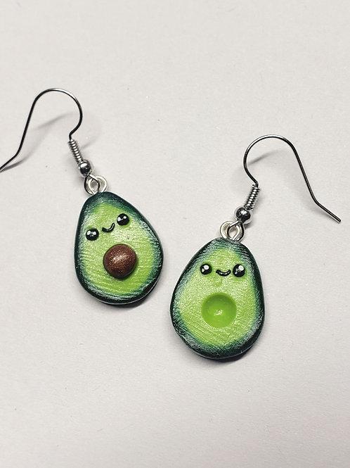 Happy Kawaii Avocado Earrings