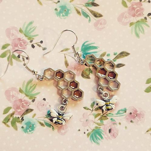 Honey Bee Earrings