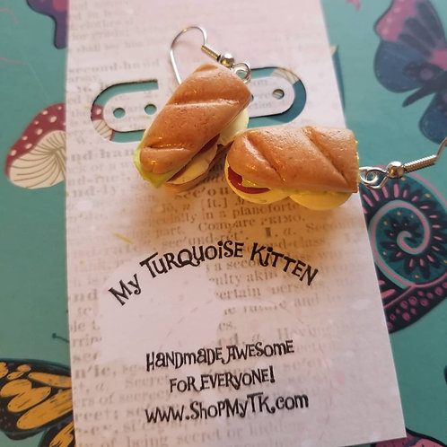 Turkey & Provolone Hoagie Sandwich Earrings