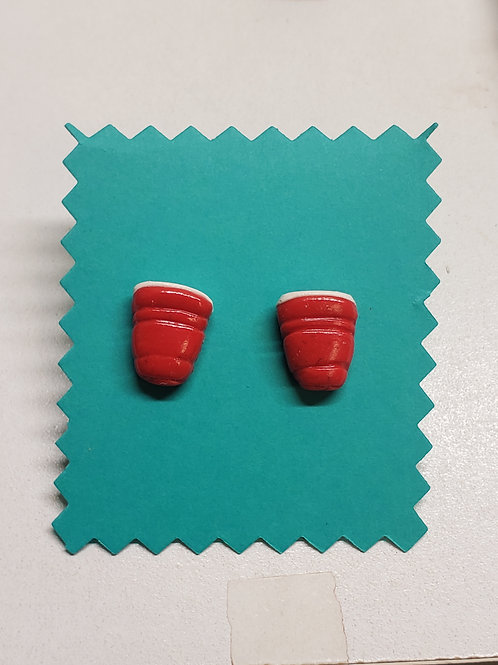 Red Party Cup Earrings
