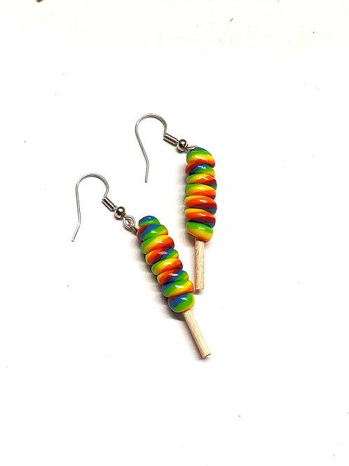 Twist Rainbow Lollipops