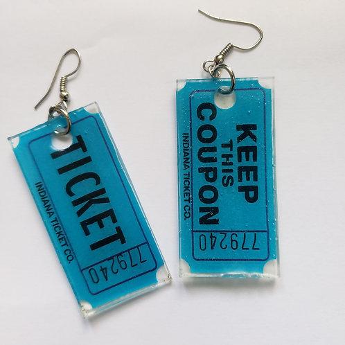 Ticket Earrings