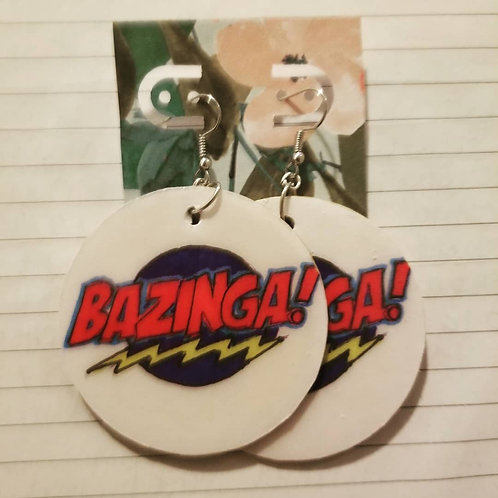 BAZINGA! Action Words Earrings (Large)