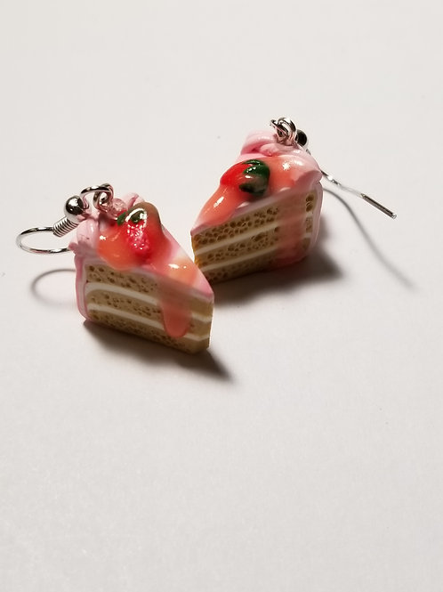 Strawberry Cream Cake Earrings