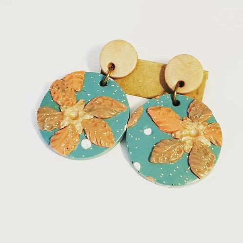 Turquoise Gold Slab Rounds I