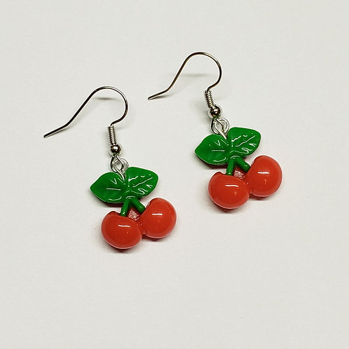 Twin Cherry Earrings