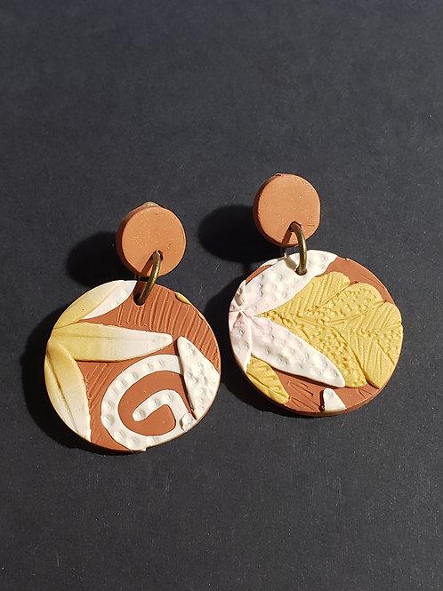 Terra Cotta Slab Earrings 4