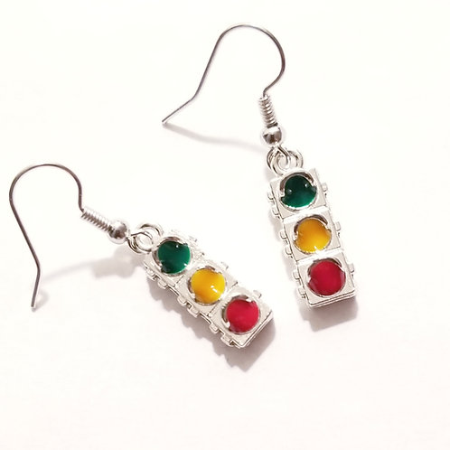 Traffic Light Earrings