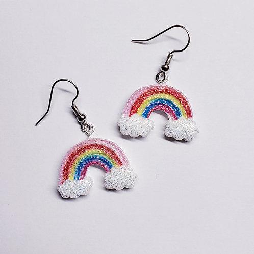 Glittery Rainbow Earrings