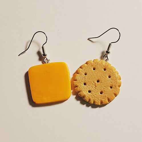 Cheese and Cracker Earrings