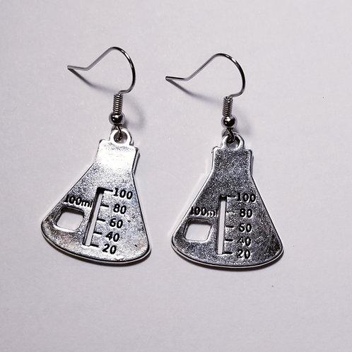 Laboratory Flask Earrings