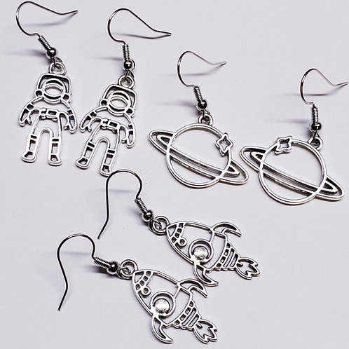 A Total Space Cadet! - 3 Piece Earring Set