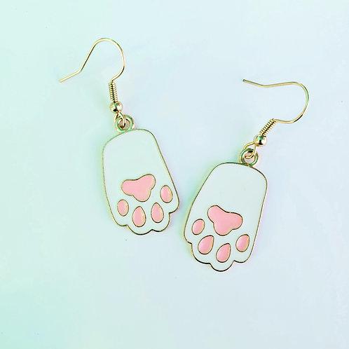 Kitty Paw Charm Earrings