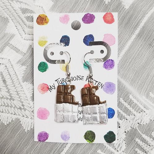 Milk Chocolate Bar Earrings