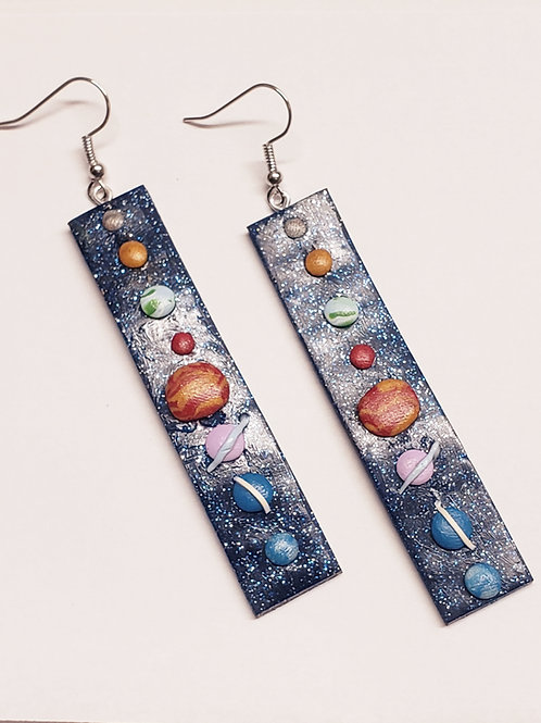 Solar System Slab Earrings