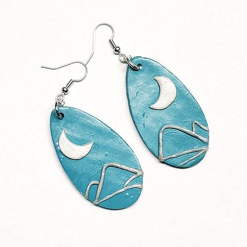 Blue Moon Teardrop Earrings