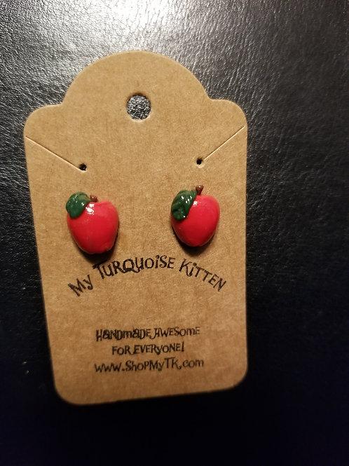 Sweet Apple Stud Earrings