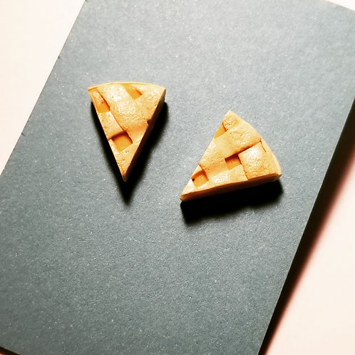 Apple Pie Stud Earrings