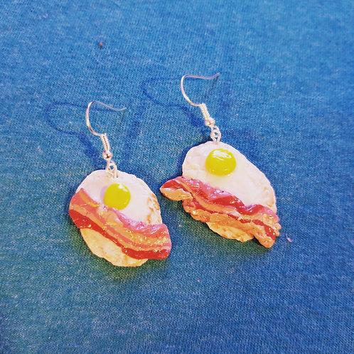 Eggs & Bacon Earrings