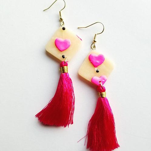 Valentine's Day Tassels - Pink