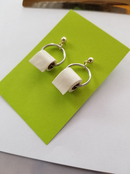 Toilet Paper Roll Earrings