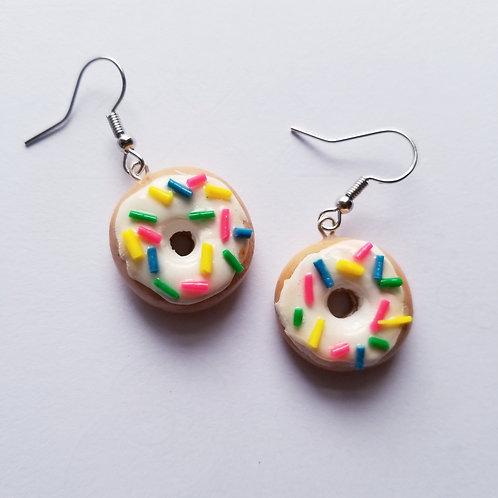 Vanilla Frosted Donut Earrings